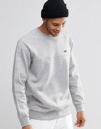 Свитшот с круглым вырезом adidas Originals Trefoil AZ1129 - Серый