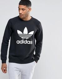 Свитшот с круглым вырезом Adidas Originals Trefoil AY7791 - Черный