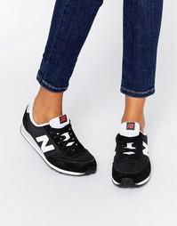 Черные кроссовки с белой отделкой New Balance 410
