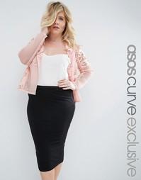 Кружевная куртка ASOS CURVE Premium - Blush