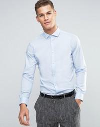 Однотонная строгая рубашка Esprit - Пастельный голубой