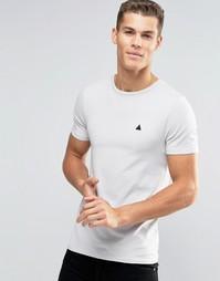 Бежевая облегающая футболка с логотипом ASOS - Creamy mushroom