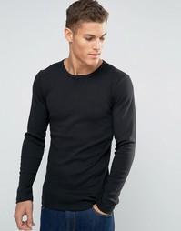 Лонгслив узкого кроя Esprit - Черный