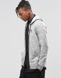 Худи на молнии с трилистником adidas Originals Premium AZ1201 - Серый
