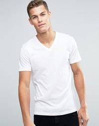 Базовая футболка с V‑образным вырезом Esprit - Белый