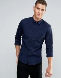Эластичная рубашка Esprit - Темно-синий