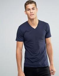 Базовая футболка с V‑образным вырезом Esprit - Пепельно-голубой