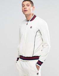 Спортивная куртка с воротником в стиле ретро Fila Vintage - Бежевый