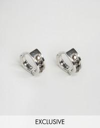 Серебристые серьги-кольца Designb - Серебряный