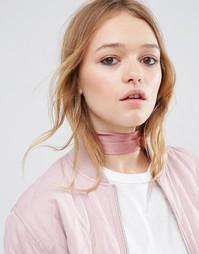 Шарф-чокер с завязкой ASOS - Розовый