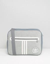 Замшевая сумка Adidas Originals Airliner - Серый