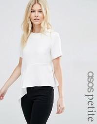 Асимметричная футболка ASOS PETITE - Кремовый