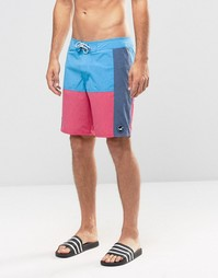 Hollister Swim Shorts With Colour Block - Темно-синий