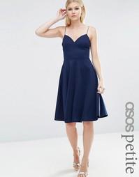 Короткое приталенное платье ASOS PETITE - Темно-синий