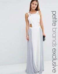 Платье макси с вырезами и плиссированной юбкой True Decadence Petite