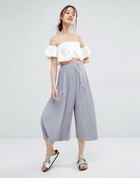 Широкие укороченные брюки Zacro - Серый