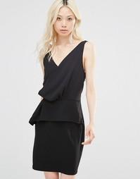 Платье с оборкой Y.A.S Elena - Черный
