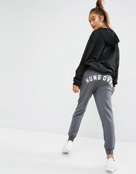 Джоггеры с принтом Hungover Adolescent Clothing - Серый