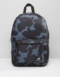 Черный рюкзак с камуфляжным принтом New Balance - Черный