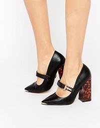 Туфли на блочном каблуке с пряжкой Lost Ink Daphne - Черный