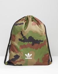 Рюкзак на шнурке с камуфляжным принтом adidas Originals AY7820