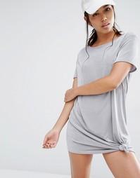 Платье с декоративным узлом Missguided - Серый