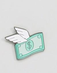 Значок в виде доллара с крыльями Skinnydip - Мульти