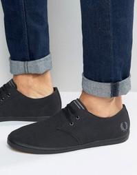 Низкие туфли‑дезерты с саржевым верхом Fred Perry Byron - Черный