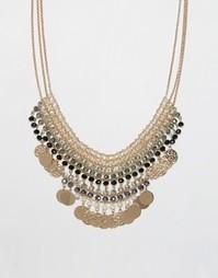 Броское ожерелье ALDO Vallenetta - Золотой
