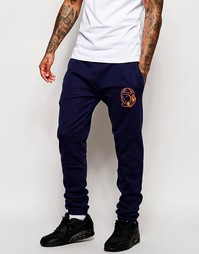 Спортивные брюки с логотипом Billionaire Boys Club - Темно-синий