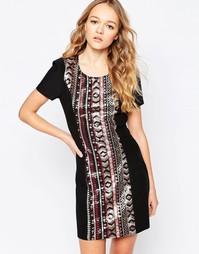Платье со вставкой из пайеток Madam Rage