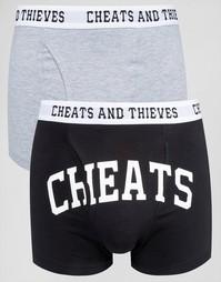2 пары боксеров‑брифов Cheats & Thieves - Черный