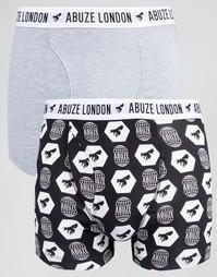Набор из 2 боксеров‑брифов Abuze London - Серый
