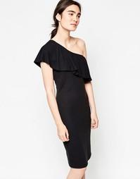 Платье миди на одно плечи Minimum Henta - Черный