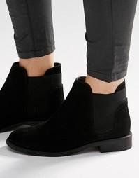 Замшевые ботинки челси ASOS AMERICAN - Черный замшевый