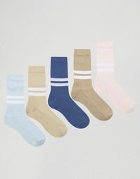 Комплект из 5 пар носков в спортивном стиле ASOS - Мульти