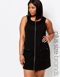 Платье на молнии спереди Koko Plus - Черный