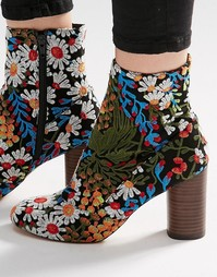 ASOS EMILIA Jacquard Ankle Boots - Мульти