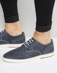 Темно-синие туфли дерби Dune - Синий