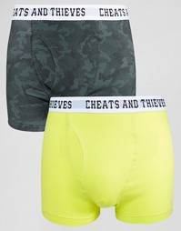 2 пары боксеров‑брифов Cheats & Thieves - Зеленый