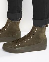 Сетчатые кроссовки с резиновыми вставками ASOS - Хаки