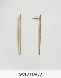 Позолоченные серьги Nylon - С золотым покрытием