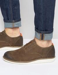 Коричневые замшевые оксфордские туфли Bellfield - Коричневый