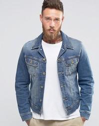 Синяя джинсовая куртка слим Lee Rider - Blue surrender