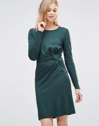Y.A.S Aia Twist Knot Dress - Зеленыe фронтоны