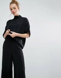 Блузка с молнией на спине Monki - Черный