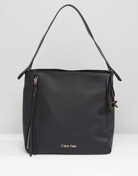 Сумка-хобо на плечо CK Jeans - Черный Calvin Klein
