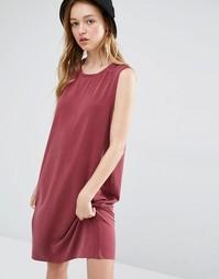 Платье без рукавов Monki - Wine