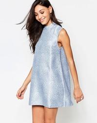 Жаккардовое платье Motel Avrill - Синий
