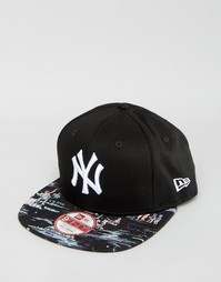 Бейсболка с принтом New Era 9Fifty NY Yankees - Черный